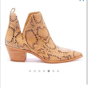 Sole Society snake skin ankle boots